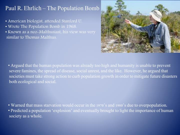Paul R. Ehrlich – The Population Bomb