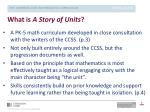 what is a story of units
