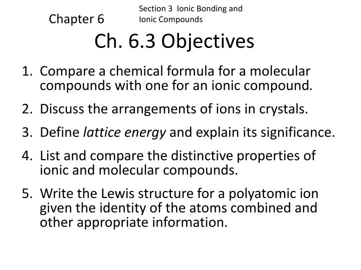 ch 6 3 objectives n.
