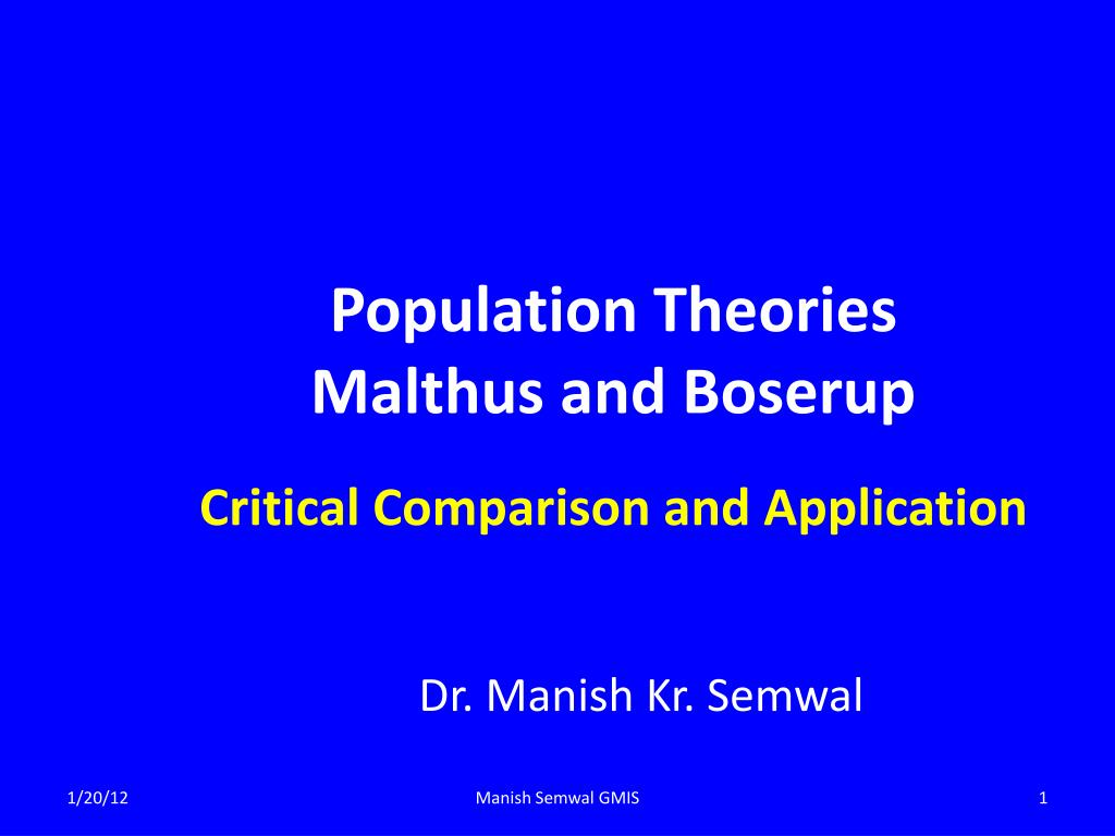 malthus and boserup