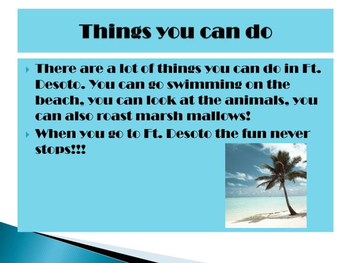 Things you can do