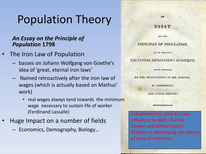 malthus thomas (1798) excerpts from an essay on the principles of population The new worlds of thomas robert malthus: rereading the principle of population (princeton university press, 2016) vii + 353 pp excerpt also online review elwell, frank w 2001 a commentary on malthus' 1798 essay on population as social theory e mellen press, lewiston, ny isbn 0-7734-7669-5.