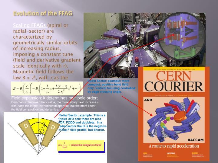 Evolution of the FFAG