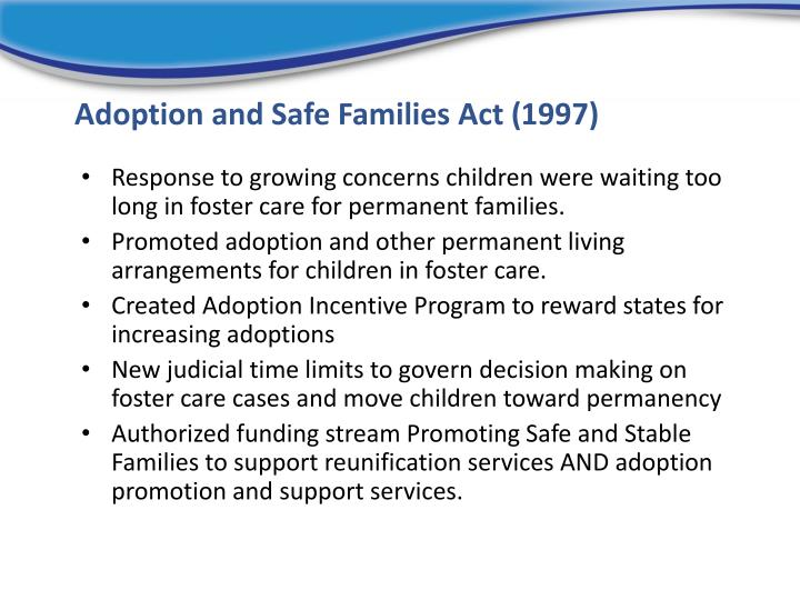 Adoption and Safe Families Act (1997)