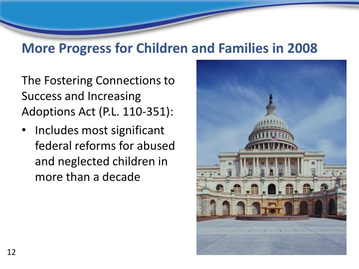 More Progress for Children and Families in 2008