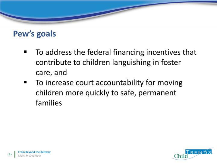 Pew's goals