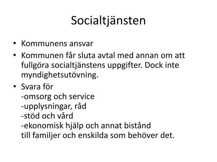 Socialtj nsten