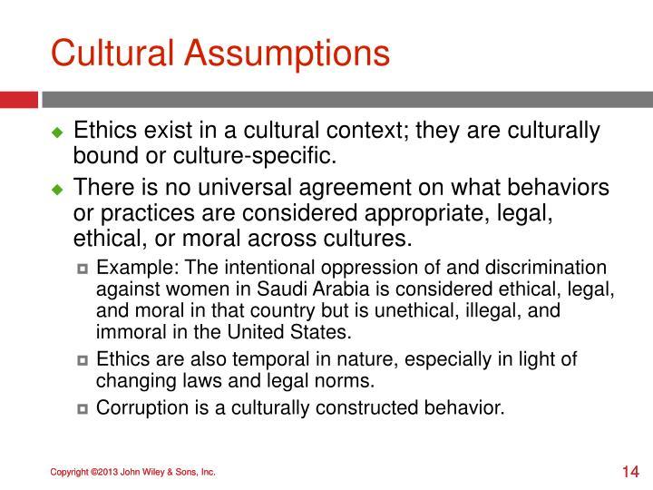 Cultural Assumptions