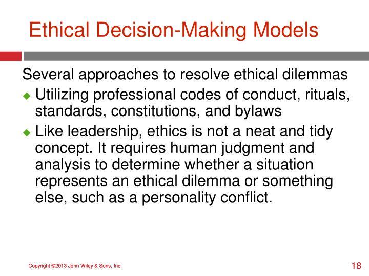 Ethical Decision-Making Models