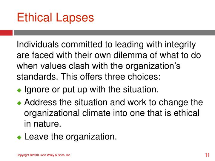 Ethical Lapses