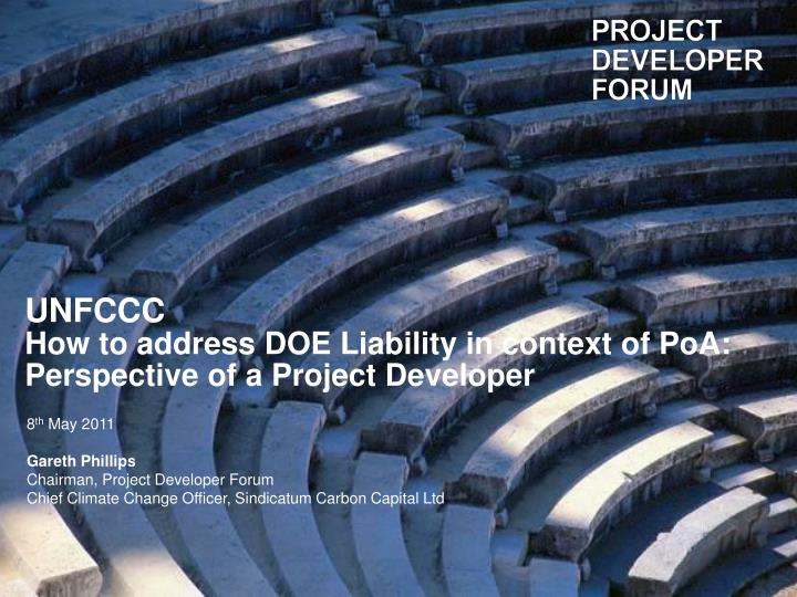 unfccc how to address doe liability in context of poa perspective of a project developer