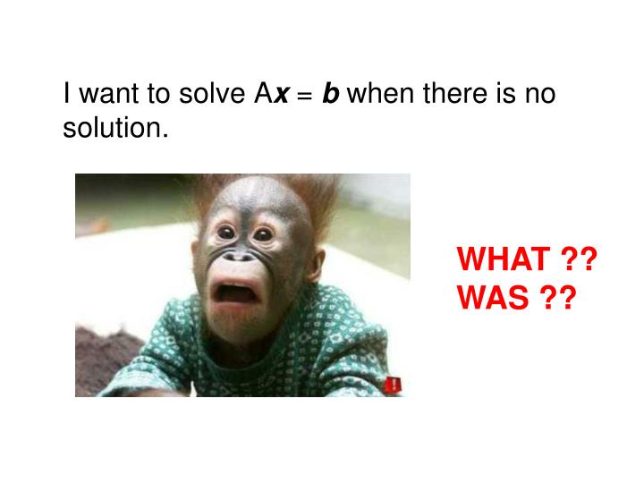 I want to solve A