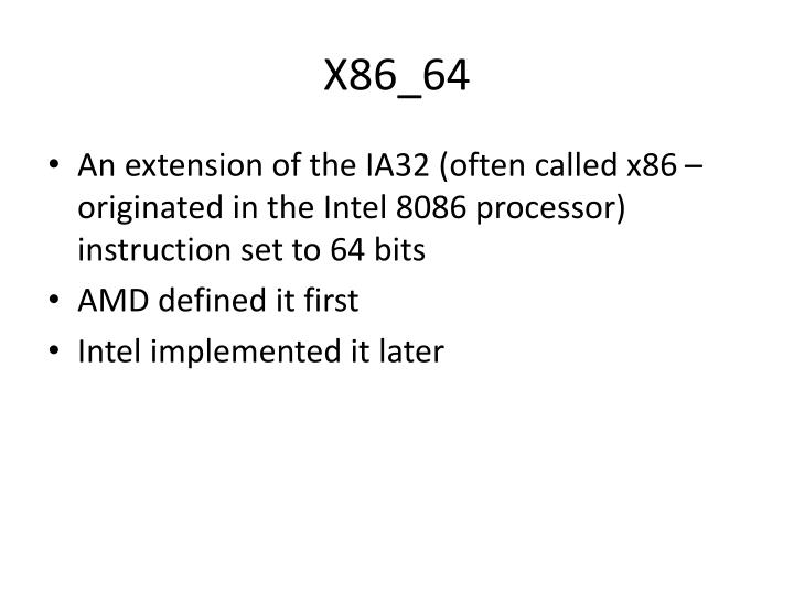 X86 64