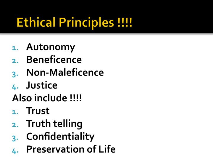 Ethical Principles !!!!