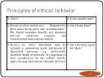 principles of ethical behavior1