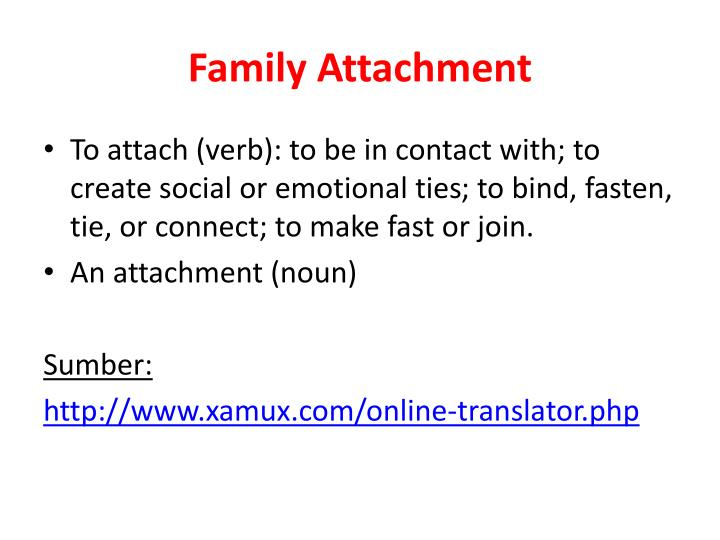Family attachment