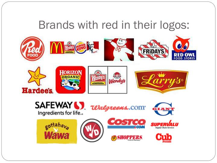 Brands with red in their logos: