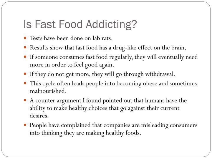 Is fast food addicting