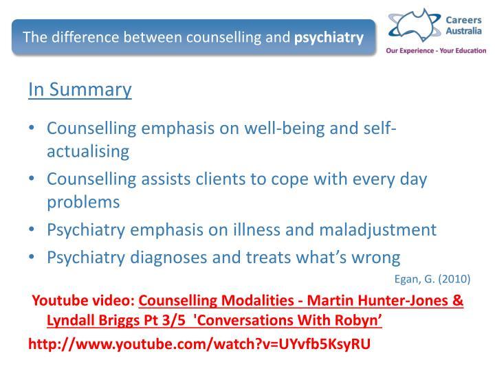 egan counselling