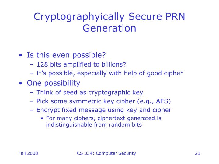 Cryptographyically