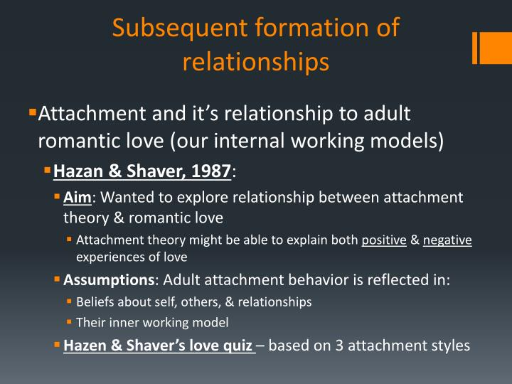 Speaking, hazan and shaver adult attachment style sympathise with