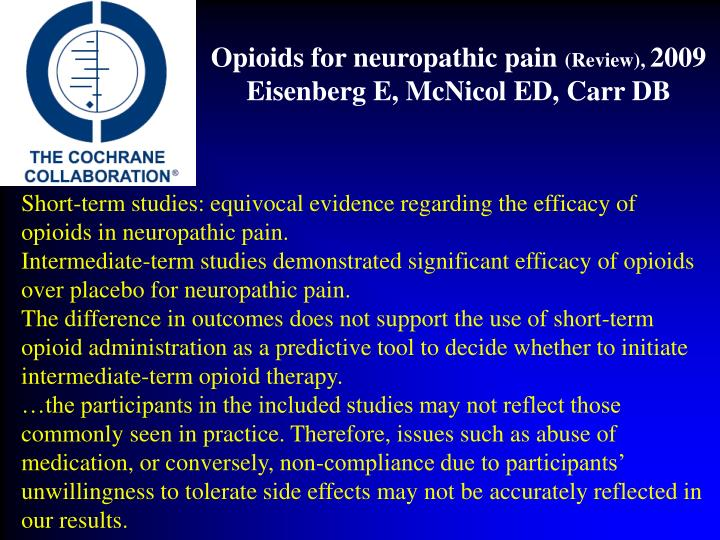 Opioids for neuropathic pain