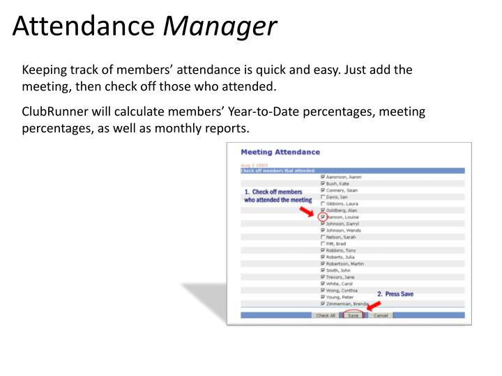 PPT - Attendance Manager PowerPoint Presentation - ID:2042225