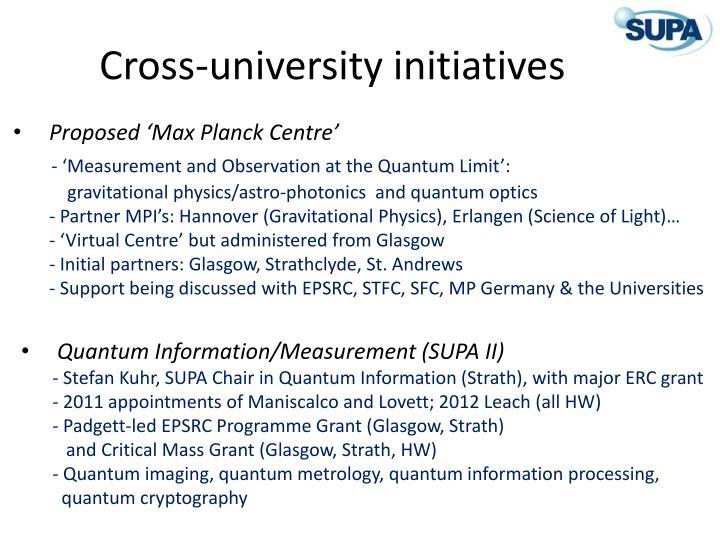 Cross university initiatives
