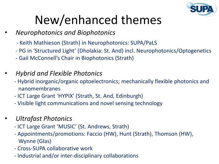 New enhanced themes