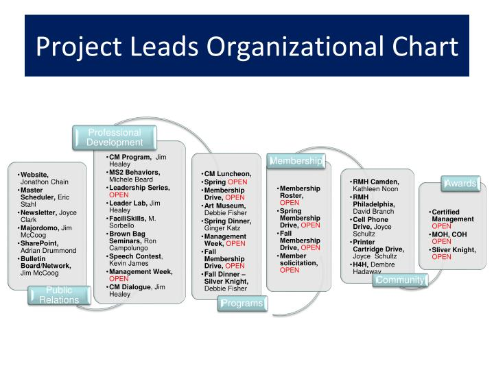 Project leads organizational chart