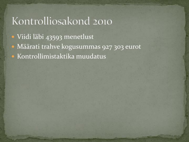 Kontrolliosakond 2010