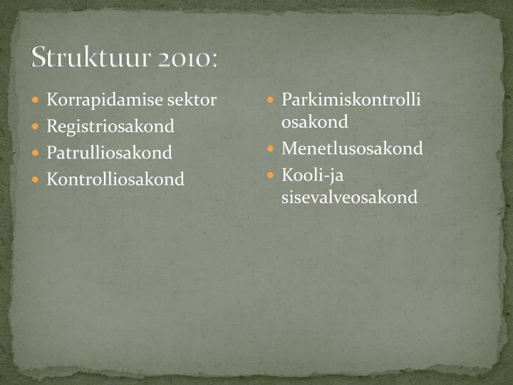 Struktuur 2010: