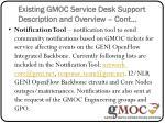 existing gmoc service desk support description and overview cont