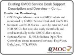 existing gmoc service desk support description and overview cont1