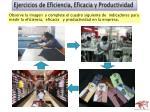 ejercicios de eficiencia eficacia y productividad
