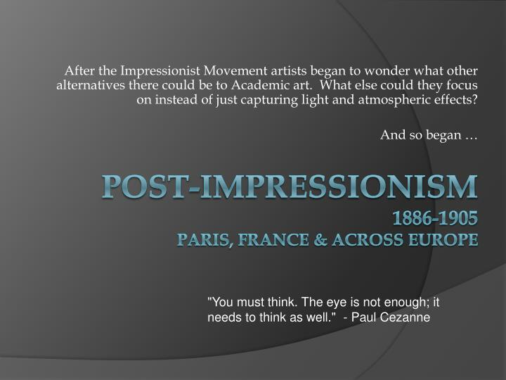a report on the impressionist movement and its representatives Great book of french impressionism diane art movement french impressionism finally emerged too are representative.