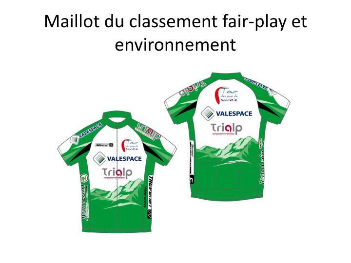 Maillot du classement fair-play et environnement