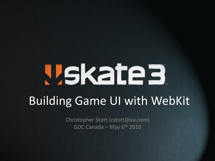 building game ui with webkit n.