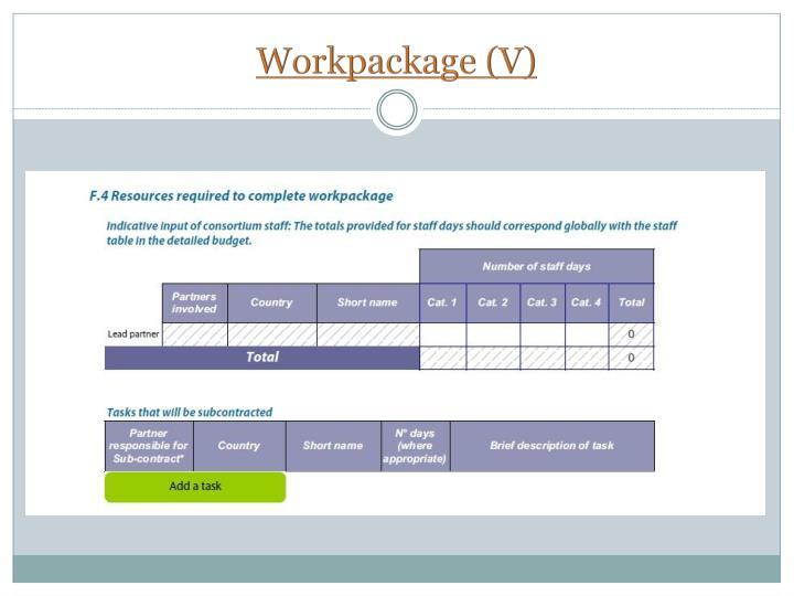 Workpackage