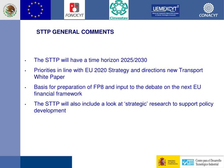 STTP GENERAL COMMENTS