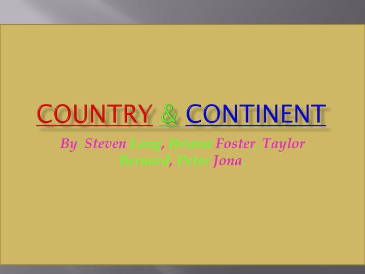 country continent n.