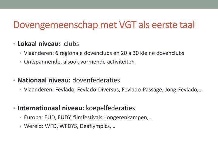 Dovengemeenschap met VGT als eerste taal