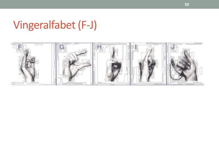 Vingeralfabet (F-J)