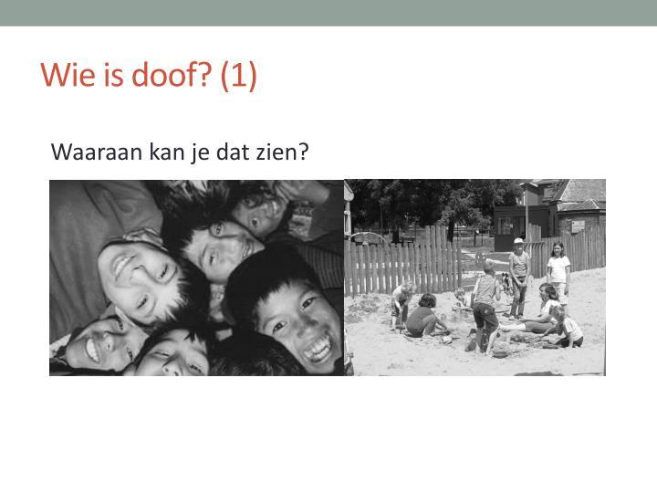 Wie is doof? (1)