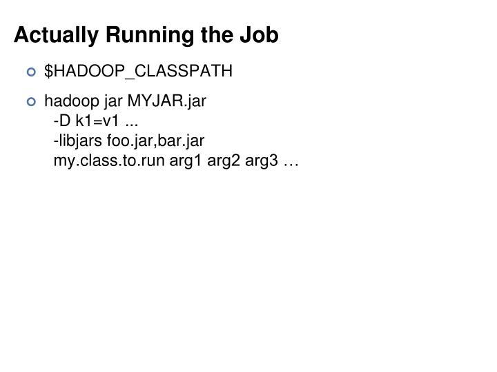 Actually Running the Job
