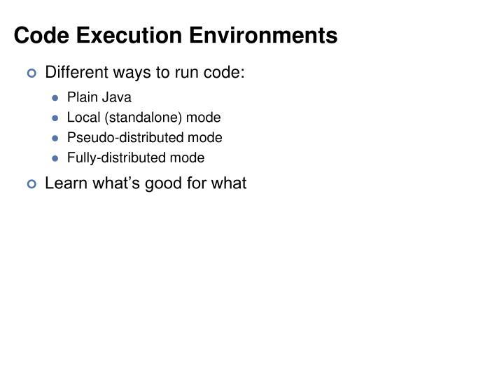 Code Execution Environments