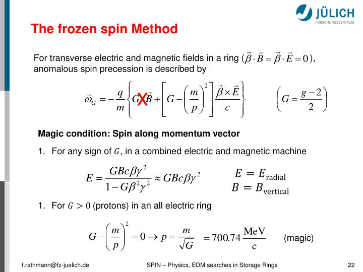 The frozen spin Method