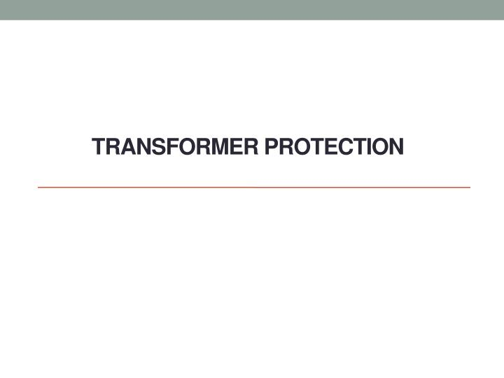 transformer protection n.