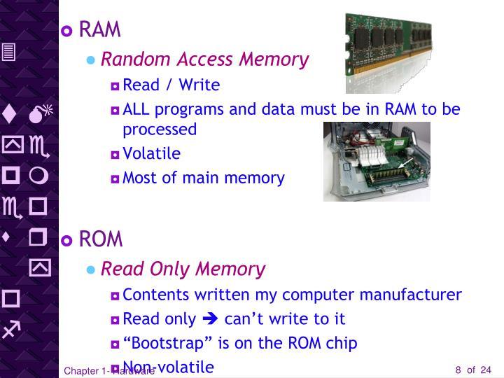 3 types of Memory