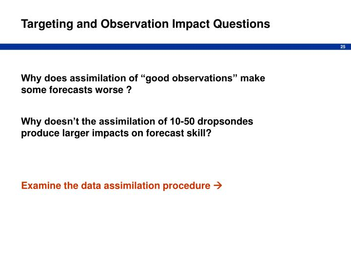 Targeting and Observation Impact Questions